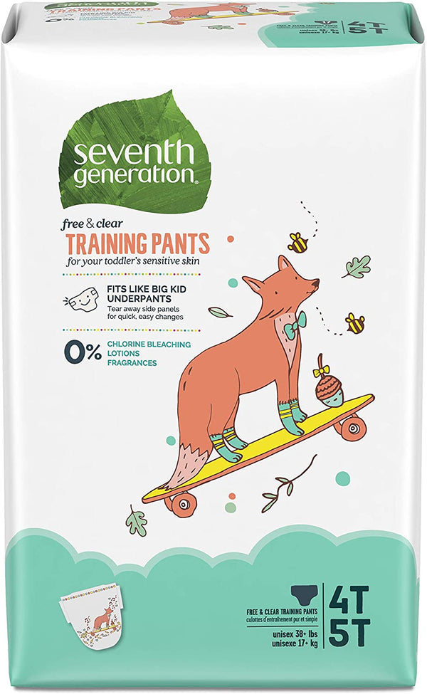 Seventh Generation Baby & Toddler Training Pants, XLarge Size 4T-5T, 68 count