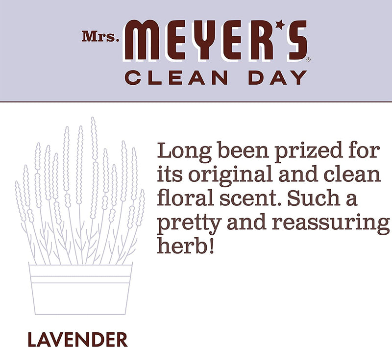 Mrs. Meyer's Clean Day Multi-Surface Everyday Cleaner, Cruelty Free Formula, Lavender Scent, 16 oz- Pack of 3