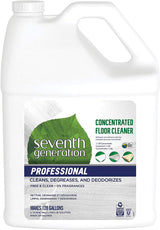 Seventh Generation Professional Concentrated Floor Cleaner, Free & Clear, Biodegradable, 128 oz (pack of 2)