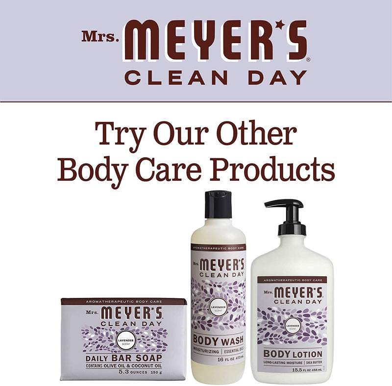 Mrs. Meyer's Clean Day Moisturizing Body Wash, Cruelty Free and Biodegradable Formula, Lavender Scent, 16 oz
