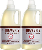 Mrs. Meyer's Clean Day Liquid Laundry Detergent, Cruelty Free and Biodegradable Formula, Lavender Scent, 64 oz- Pack of 2