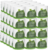 Seventh Generation White Toilet Paper 2-ply 100% Recycled Paper, 500 sheets, Pack of 60