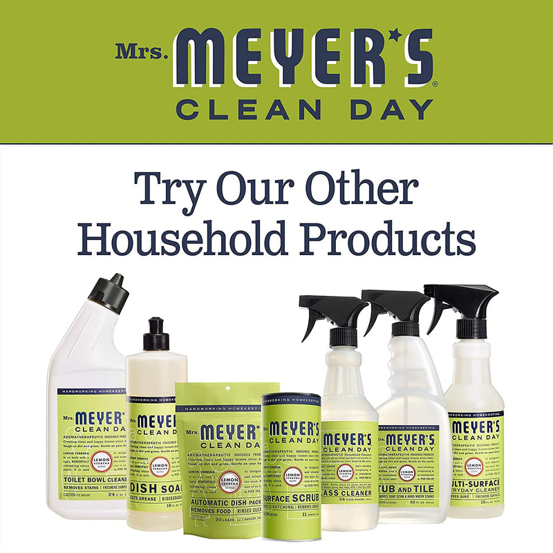 Mrs. Meyer's Clean Day Kitchen Basics Set, Includes: Multi-Surface Cleaner, Hand Soap, Dish Soap, Lemon Verbena Scent, 3 Count Pack