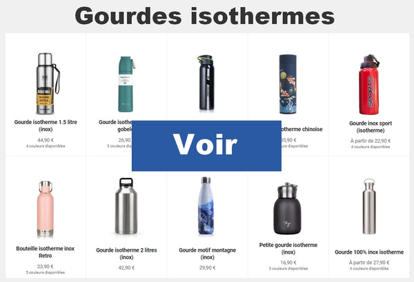 Collection gourdes isothermes