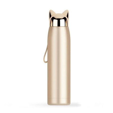 bouteille thermos chat
