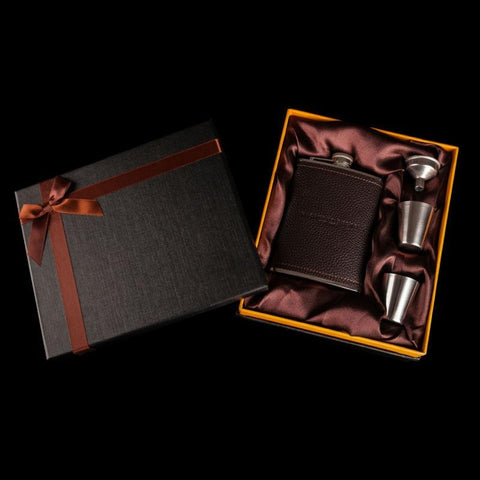 Coffret flasque à whisky