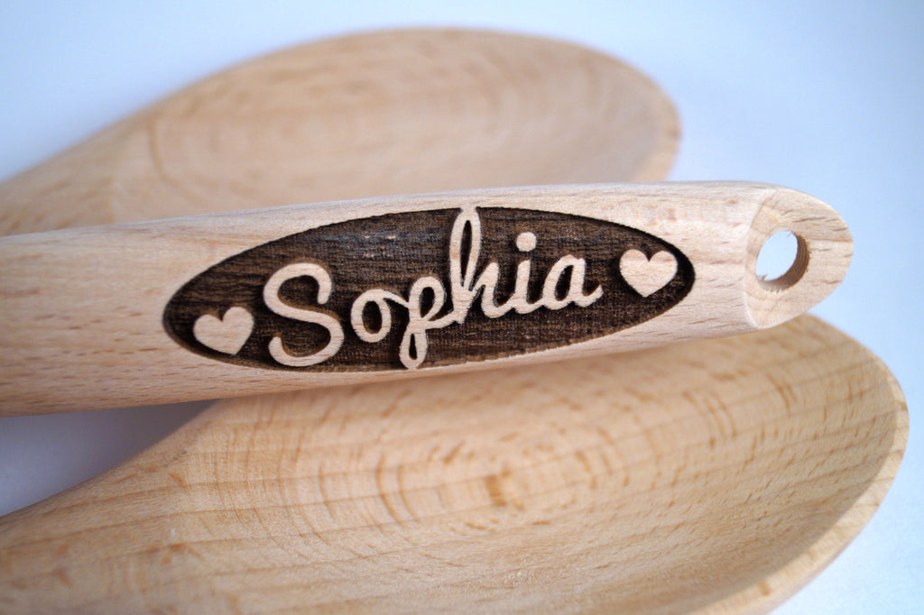 Heart Gift, Anniversary Gift, Custom Wooden Spoon, Personalized Spoon, Engraved Spoon, Baking Gift, Valentines Gift, Wife Gift, Gift for Her