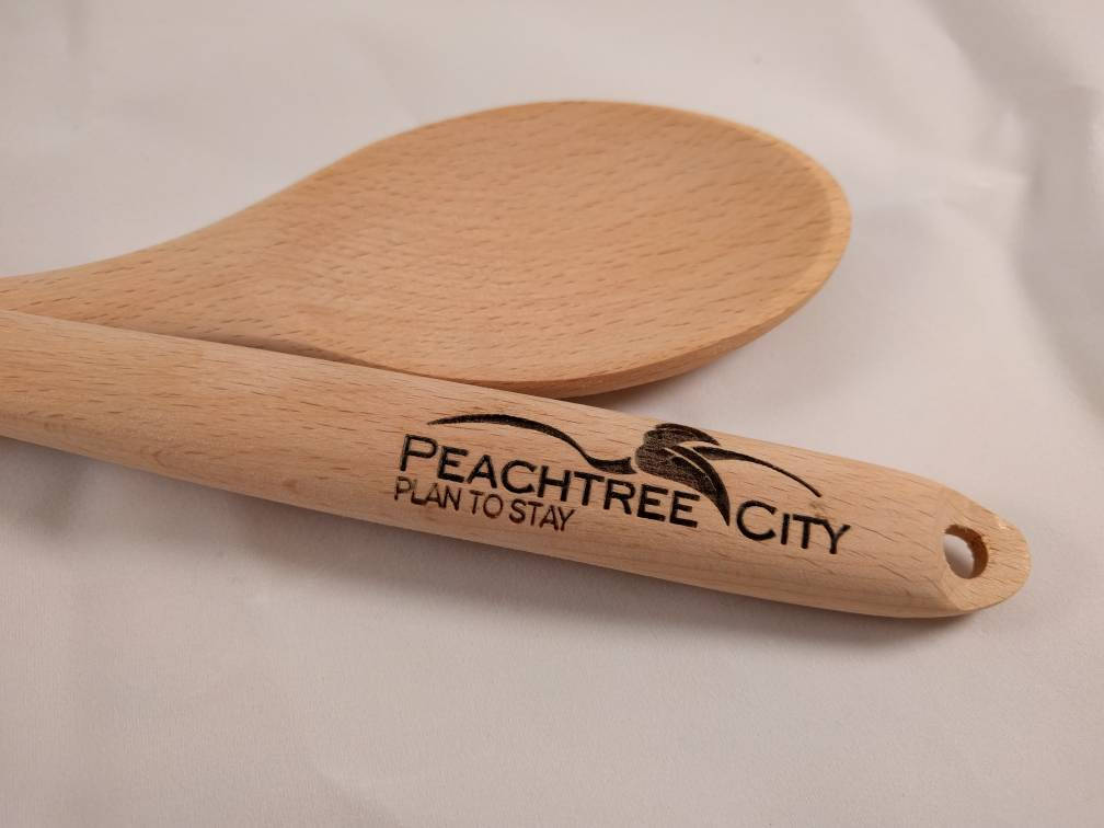 CUSTOM ORDER for CAROLINE -- 510 Wooden Spoons with Corporate Logo