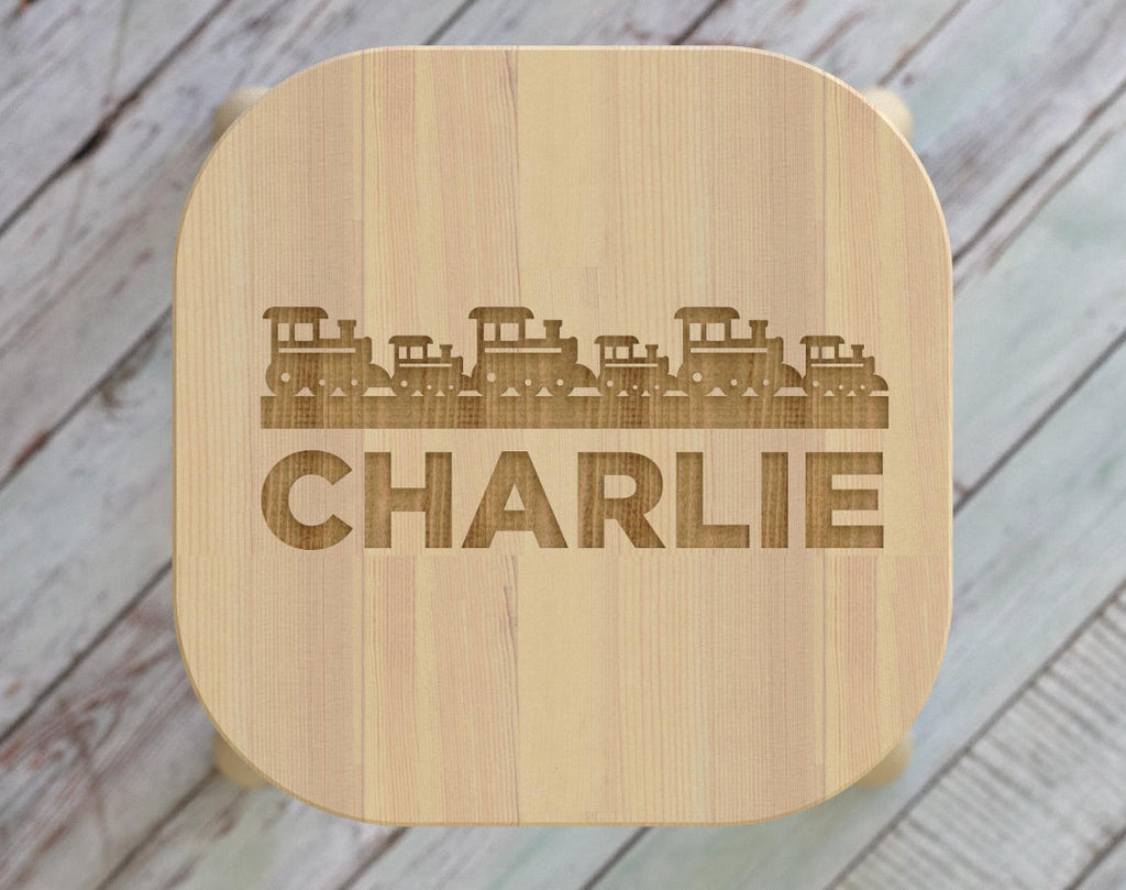 Trains, Kids Step Stool, Train, Kids Name Stool, Kids Stool, Childrens Stool, Childrens Bench, Wooden Step Stool, Gift For Kids