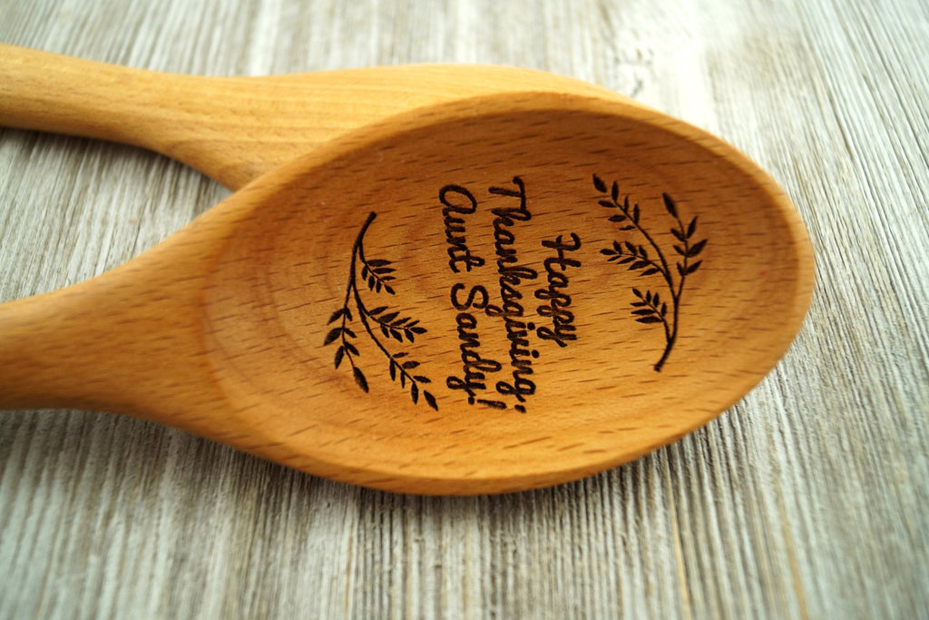 Thanksgiving Gift, Personalized Wooden Spoon, Fall Decor, Thanksgiving Table Decor, Thanksgiving Decor, Hostess Gift, Gift for Mom, Fall