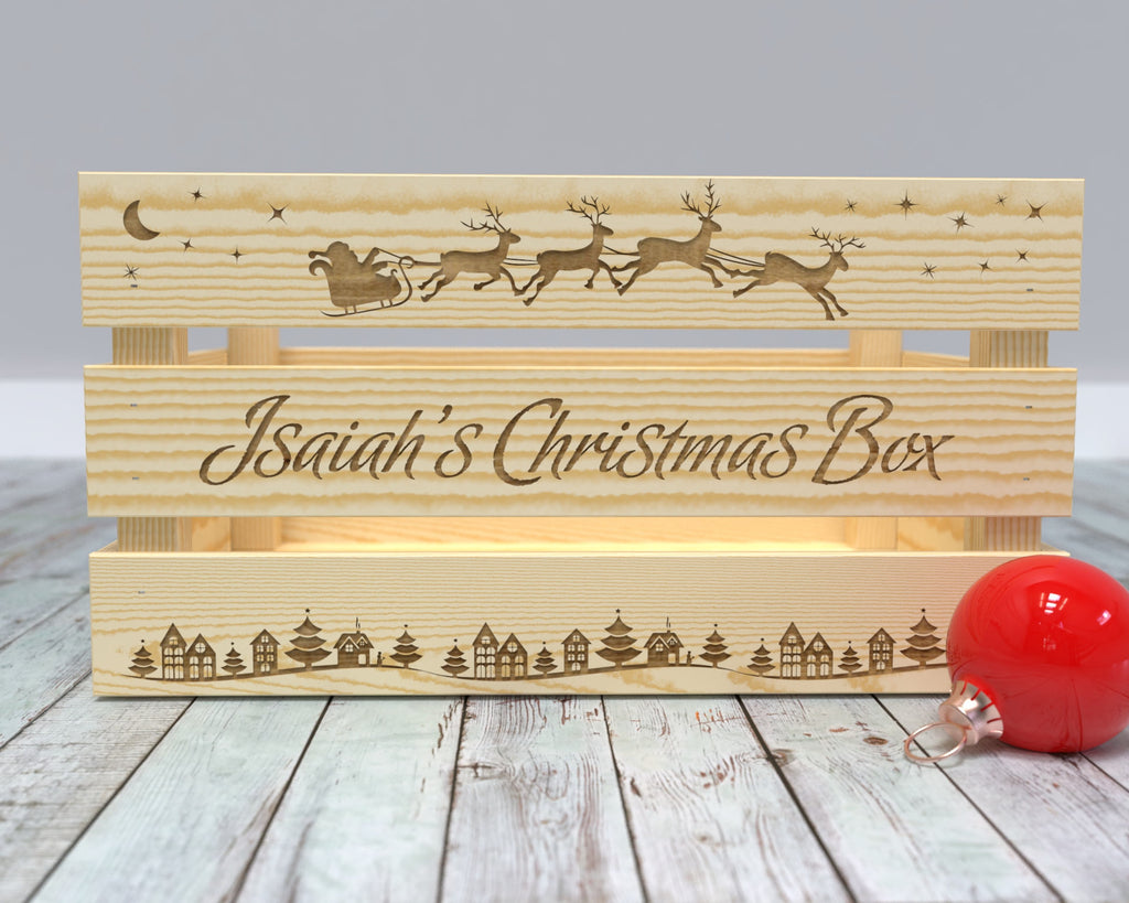 Christmas Eve Box - Large Christmas Box - Gifts from Santa - Surprise from Santa - Family Christmas Traditions - Christmas Eve Celebration