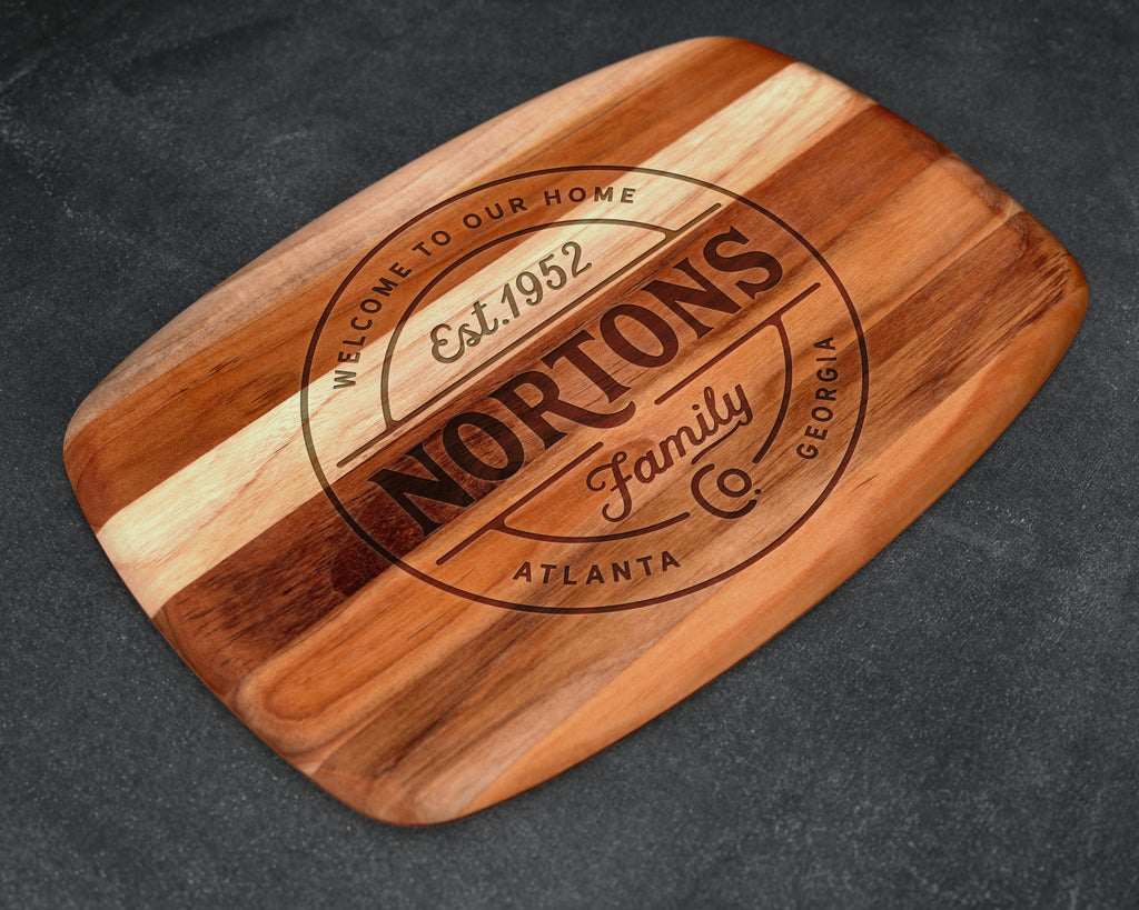 Engraved, Cutting Board, Teak Wood, Dark Wood, Premium Gift, Custom Cutting Board, Nice Gift, Personalized Gift, Personalized Cutting Board