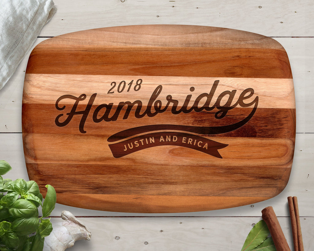 Name Gift, Cutting Board, Teak, Pennant, Flag, Family Name Sign, Christmas Gift Ideas, Christmas Gifts, Gift for Him, Man Gift, Men Gifts