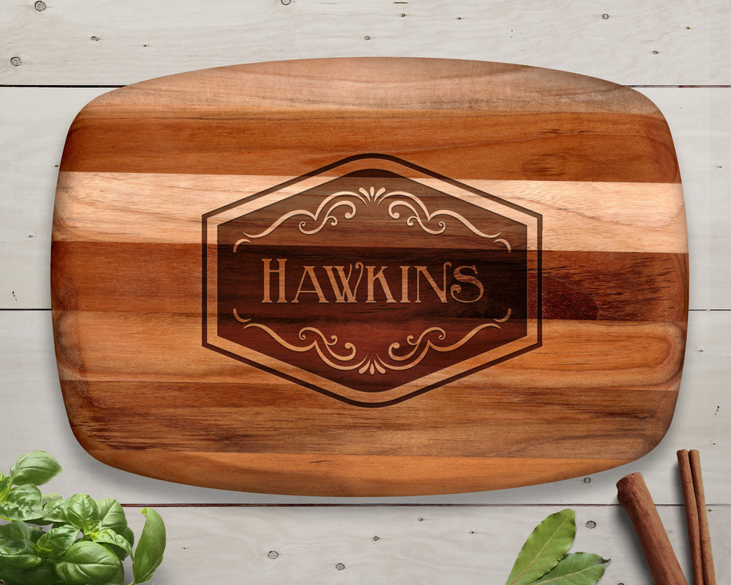 Personalized Wedding Gift, Teak Wood, Custom Wooden Cutting Board, Family Christmas Gift, Kitchen Gift, Baking Gift, Cooking Gift, Engraved