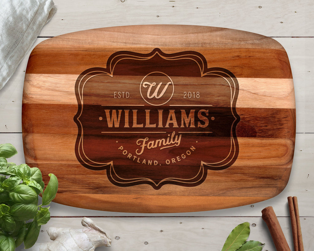 Cutting Board, Teak, Monogrammed Gifts, Charcuterie Board, Appetizers, Cheese Board, Serving Board, Custom Cutting Board, Personalized Board