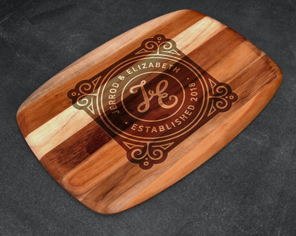 Cutting Board, Teak, Custom Cutting Board, Personalized Cutting Board, Chopping Block, Family Gift, Family Name Sign, Christmas Gift Ideas