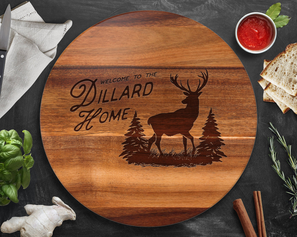 Deer, Lazy Susan, Hunting Gifts, Gift for Dad, Rustic Home Decor, Antlers, Rustic Decor, Husband Christmas Gift, Husband Gift, Gifts for Dad