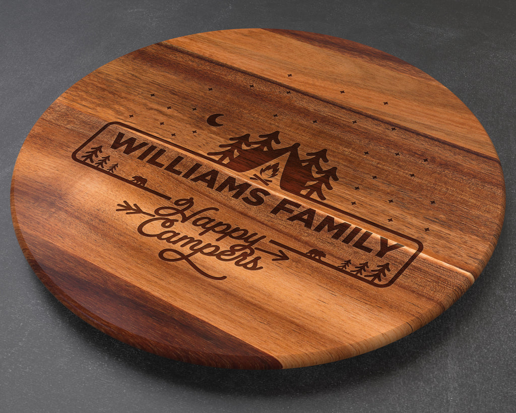 Camping Lazy Susan Personalized, Wedding Gift, Custom Wedding Gift, Couples Gift, Engagement Gift, Housewarming Gift, Realtor Gifts