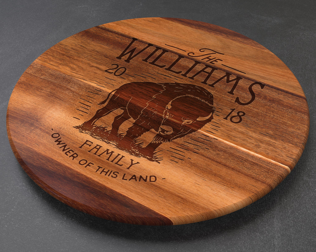 Buffalo, Bison, Lazy Susan, Western Decor, Bison Decor, Buffalo Decor, Home Decor, Hunting Gifts, Rustic Decor, Camping Gifts, Turntable