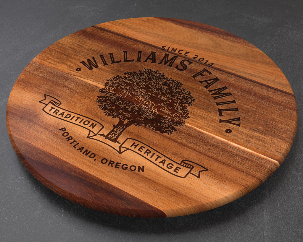 Custom Lazy Susan, Personalized Cutting Board, Engraved Cutting Board, Custom Cutting Board, Wedding Gift, Anniversary Gift, Christmas Gift