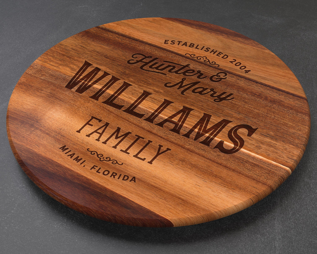 Personalized Lazy Susan, Wedding Gift, Personalized Wedding Gift, Anniversary Gift, Best Friend Gift, Wife Gift, Personalised Lazy Susan