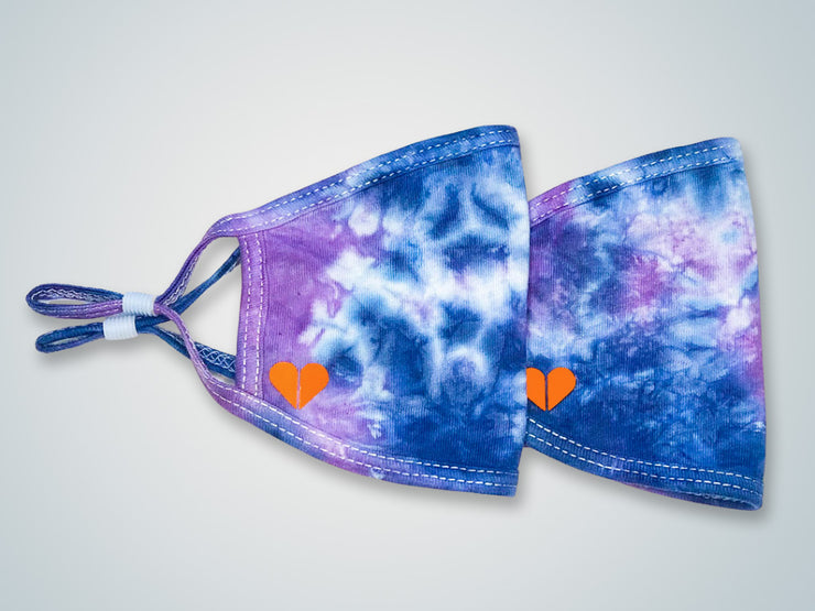 Face the Day Tie Dye Face Mask - Indigo Dream