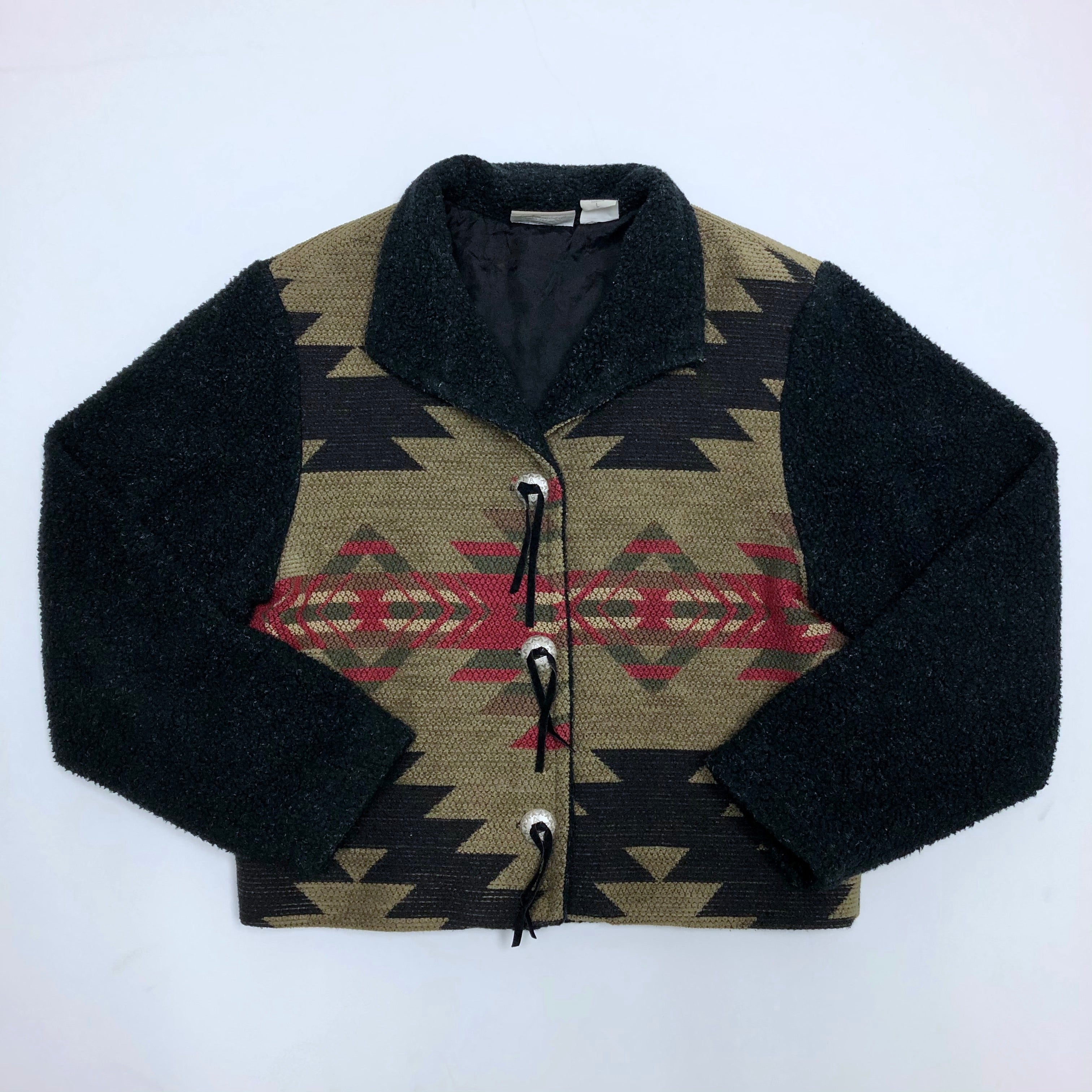 Mixed Textile-Fleece Campside Coat