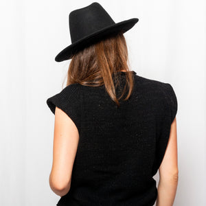 HdN Wide Brim Hat with Leather Strap