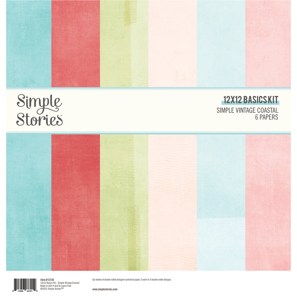 PRE-ORDER Simple Stories - Vintage Coastal Basics Kit