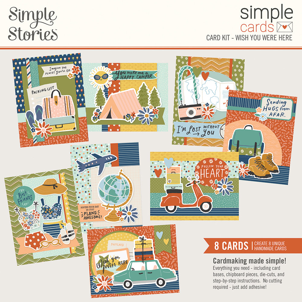 Simple Stories Safe Travels Simple Card kit
