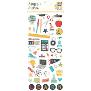 Simple Stories - School Life Puffy Stickers