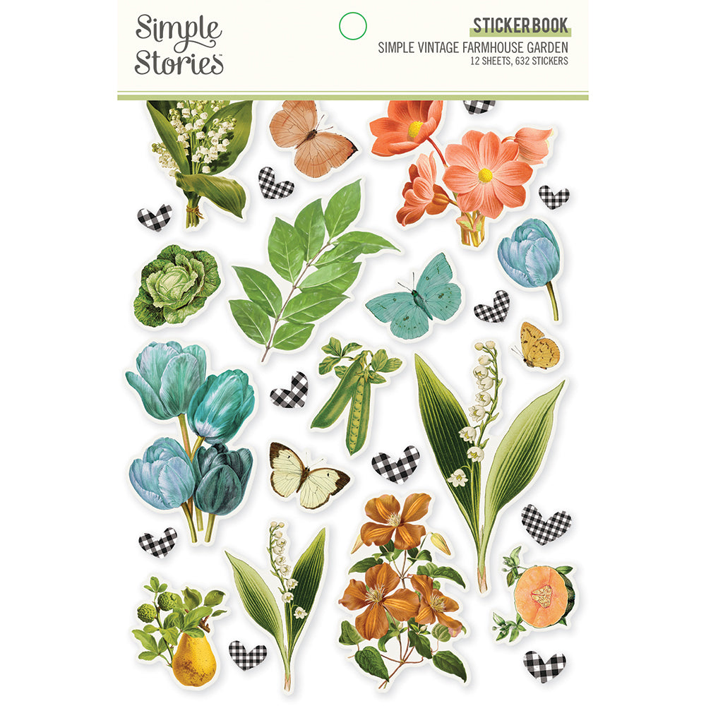 PRE-ORDER Simple Stories - Simple Vintage Farmhouse Garden Sticker Book