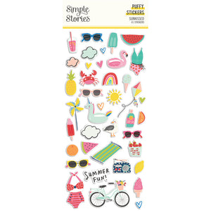 PRE-ORDER Simple Stories - Sunkissed - Puffy Stickers