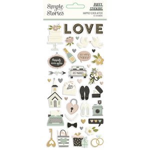 Simple Stories - Happily Ever After - Puffy Stickers