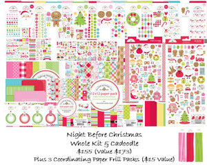 Pre-Sale Doodlebug Night Before Christmas Kit & Cadoodle