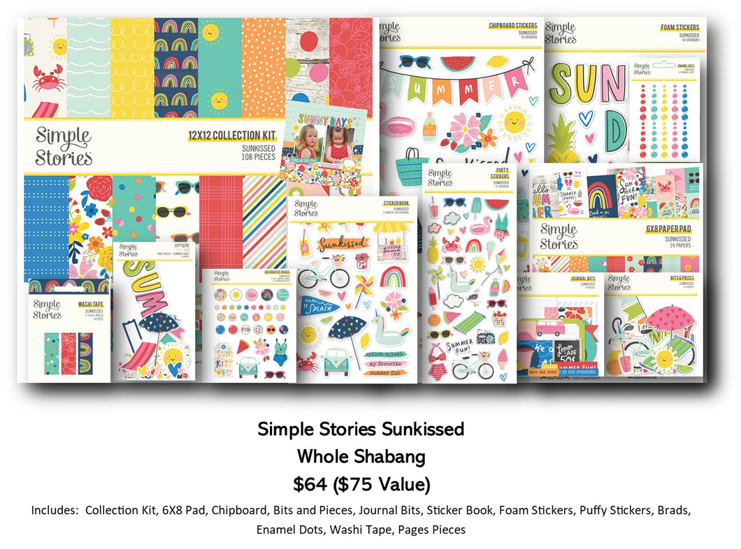 PRE-ORDER Simple Stories - Sunkissed - Whole Shebag