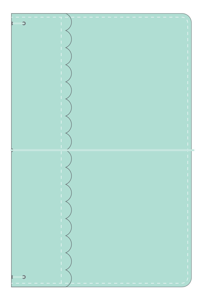 Doodle-Bug Mint Travelers Notebook