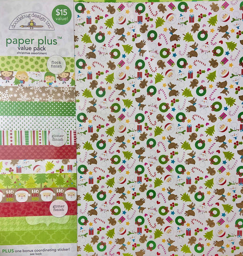 Doodlebug Paper Plus Pack- Christmas