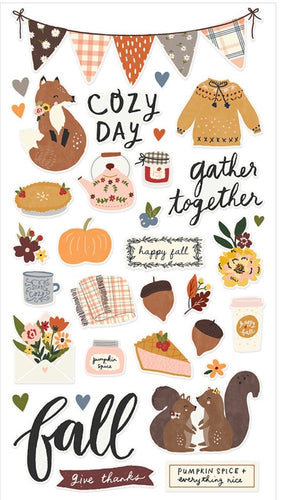 Cozy Days Chipboard Stickers