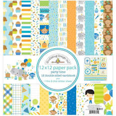 Doodlebug Party Time Paper Pack