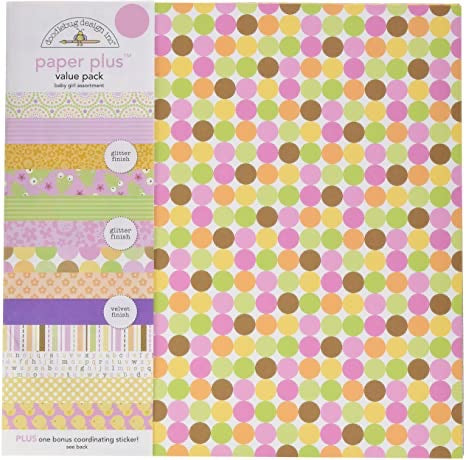 Doodlebug Paper Plus Pack- Baby girl