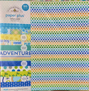Doodlebug Paper Plus Pack- Boys