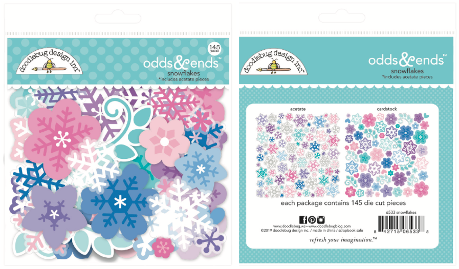 Doodlebug Winter Wonderland Snowflake Odds & Ends