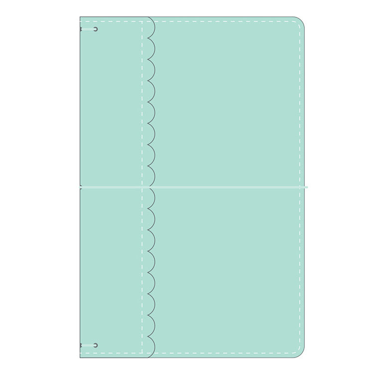 Doodlebug Travelers Notebook- Mint