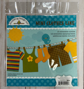 Doodlebug die cuts-mini clothes line