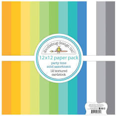 Doodlebug Party Time Solid Paper Pack