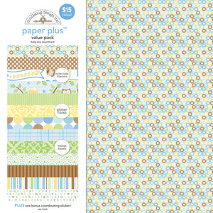 Doodlebug Paper Plus Pack- Baby Boy