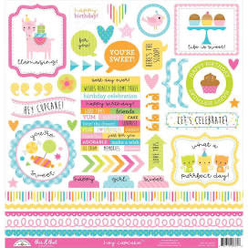Doodlebug Hey Cupcake This & That Stickers