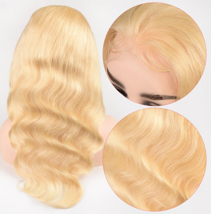 #613 100% Virgin Human Hair Body Wave 13x4 Transparent Lace Front Wig