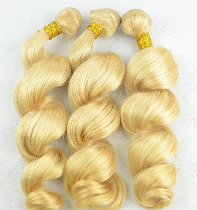 #613 100% Human Hair 10A Loose Wave 3 Bundle Deal